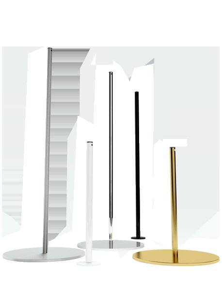 Poteaux de balisage pour musée